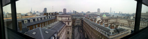 London Skyline, seen from King's College Doctoral Study room